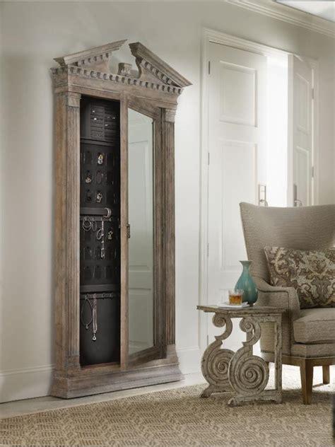 Floor Jewelry Armoire With Mirror by Rhapsody Floor Mirror W Jewelry Armoire Storage