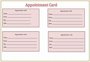 Search Results For Free Printable Appointment Cards