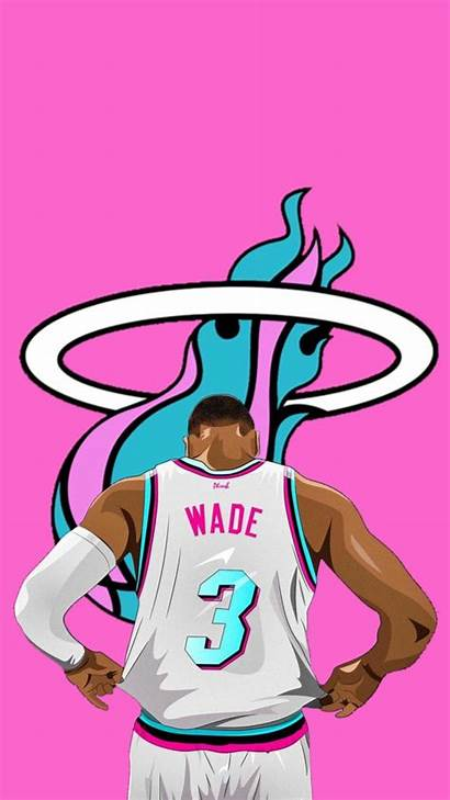 Miami Heat Vice Wade Pink Dwyane Nba