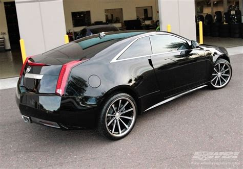 cadillac cts coupe   vossen vvs cv  matte black machined ss lip wheels ride
