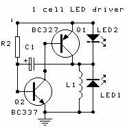 analog ultra low power simple flashing circuit With two led strobe flasher hookup to 10 leds