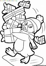 Coloring Pages Christmas Santa Themed Adults Sheets Printables Penguin sketch template