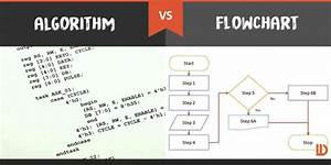 Difference Between Flowchart And Algorithm Comparison Chart