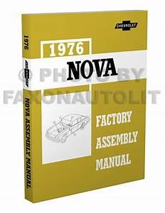 1976 Chevy Nova Foldout Wiring Diagrams Original