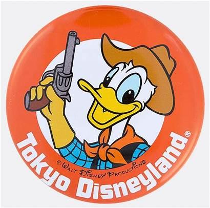 Disneyland Donald Duck Tokyo Official Button Litho