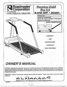 Roadmaster Treadmill Owners Manual