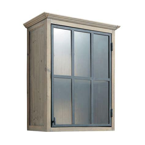 meuble haut vitré cuisine meuble haut vitré de cuisine ouverture gauche en bois