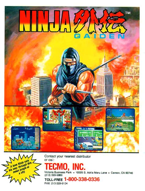 Play Ninja Gaiden Shadow Warriors Coin Op Arcade Online