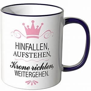 Hinfallen Aufstehen Krone Richten Weitergehen Sprüche : wandkings tasse mit spruch lila ~ Frokenaadalensverden.com Haus und Dekorationen