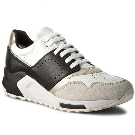 sneakers geox  phyteam  dda   bialyczarny sneakers  shoes womens