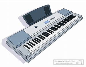 Piano clipart keyboard instrument - Pencil and in color ...