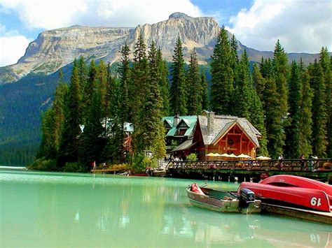 mountain lake house pine forest boats wallpaperscom