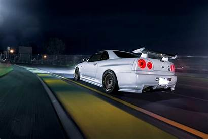 R34 Skyline Nissan Race Dark Track Speed