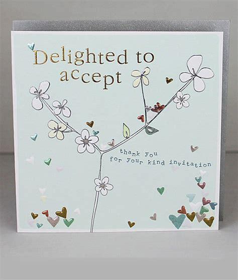 wedding invitation acceptance cards molly mae accept