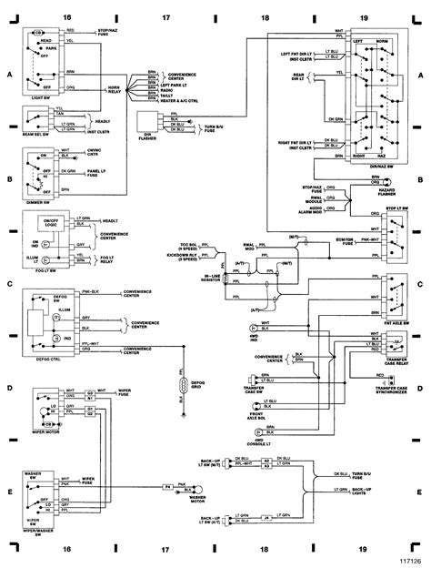 Chevy Steering Column Wiring Diagram by Electrical Wire Diagram In Steering Column