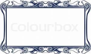 Vintage emblem border Stock Vector Colourbox