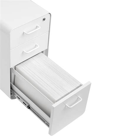 poppin file cabinet review poppin white slim 3 drawer stow filing cabinet the