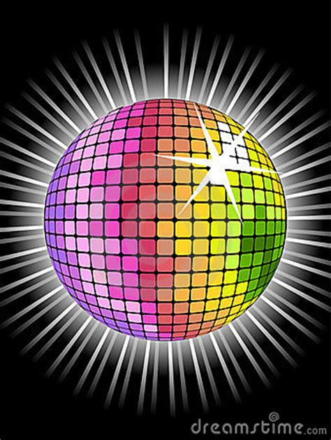 rainbow disco ball stock photo image