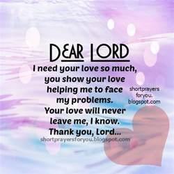 Short Thank You Prayers