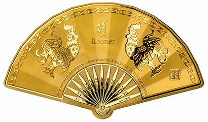 Lunar Medal Shaped Chinese Fan 3rd Edition