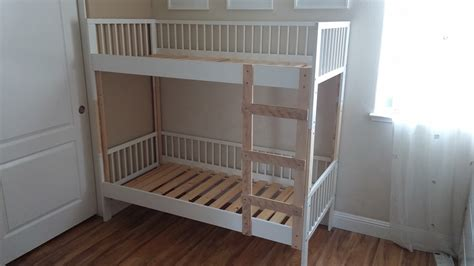 metal bed frame woodworking how to connect two bed legs to a bunk
