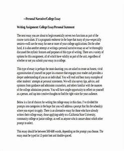 personal essay college admission sample template example of essay outline