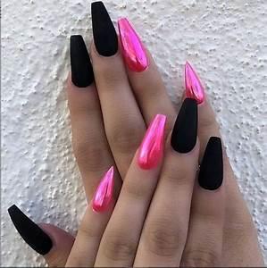 30 acrylic black nail designs ideas for