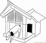 Coloring Doghouse Dog Deck Template Coloringpages101 Pdf Sketch sketch template