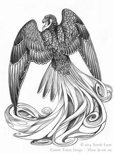 Stylized Fantasy Falcon Tattoo Design by windfalcon on ...