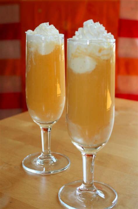 cocktail mit eiscreme orange angel cocktails und