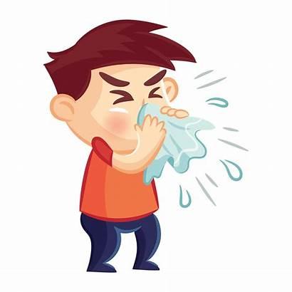 Flu Cold Clipart Sick Cough Child Season
