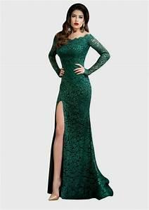 Emerald Lace Dress Formal Formal Dresses dressesss