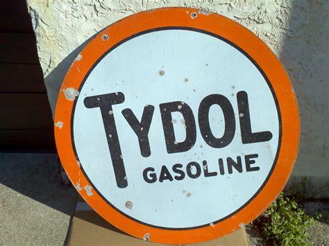 Antique Double Sided Porcelain Tydol Gas Station Sign ...