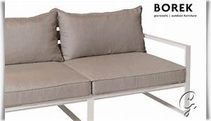 Couch Von Milben Befreien : garten lounge sofa samos mit kissen ~ Indierocktalk.com Haus und Dekorationen