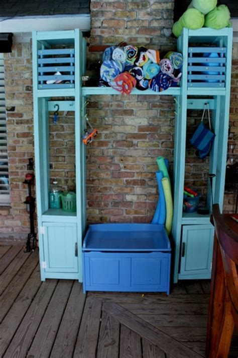 Ana White   Pool Storage Lockers   DIY Projects