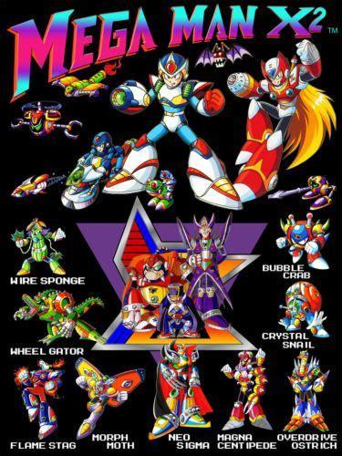 Character Sheet Mega Man And Retro Posters On Pinterest