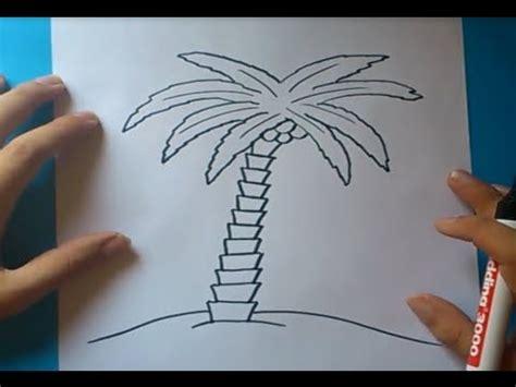 Como dibujar una palmera paso a paso 2 How to draw a