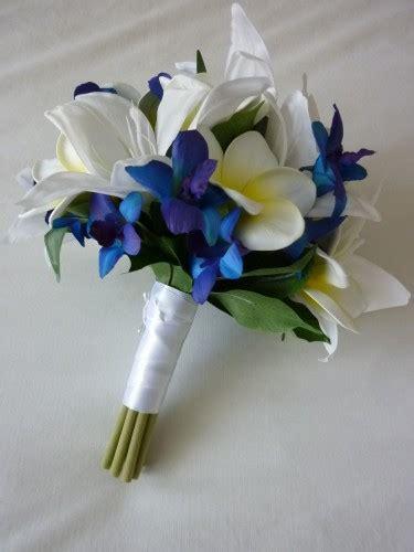 blue stunner bridal bouquet artificial wedding bouquet