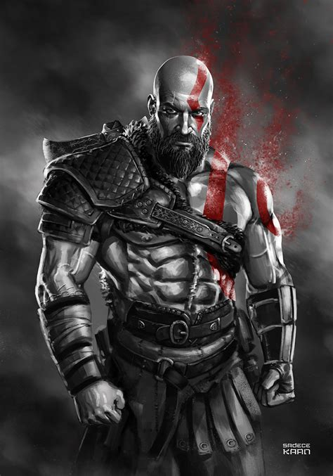 Kratos God Of War 4 By Sadecekaan On Deviantart