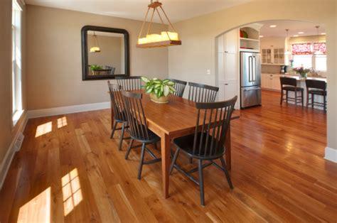 beautiful simple country style dining room hardwood floor