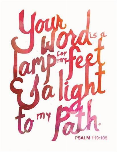 Scripture Printable Word Bible Psalm 119 105