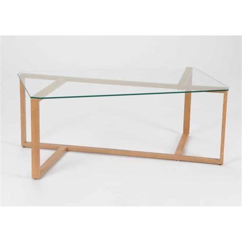 table basse verre bois table basse design verre et bois 110x60 cm achat vente