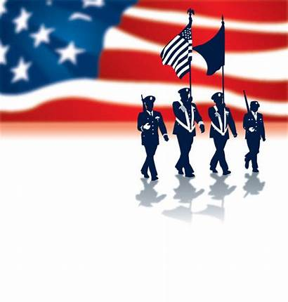 Military Flag Parade Holiday Vector Illustrations Clip