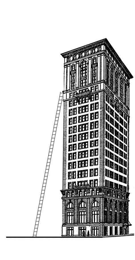 Ladder Leaning Against a Building | ClipArt ETC