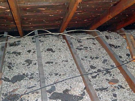 vermiculite attic insulation partial view
