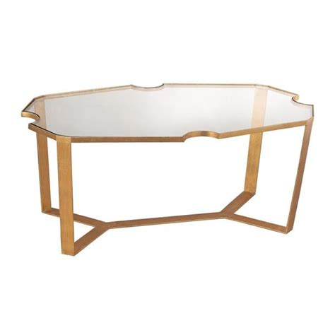 ls dimond home cutout top martini table in gold