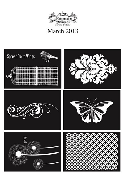 March 2013 FREE stamp designs. Download and print your ...