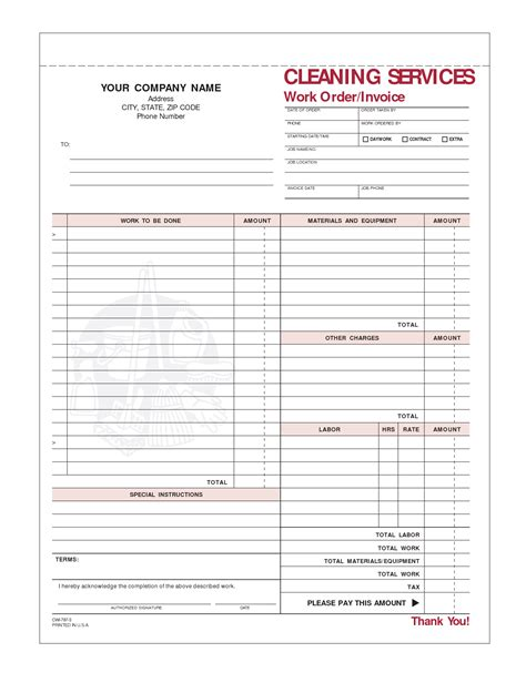 cleaning template 8 best images of printable house cleaning invoice house cleaning invoice template team leader