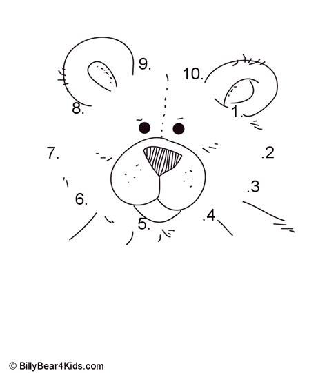 teddy bear dot  dot numbers   bears preschool dot