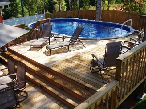 awesome above ground pool deck privacy fence with above